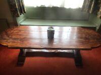 Beautiful solid wood dining table 260cm long x 88cm wide (colour antique oak)