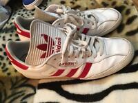 Adidas sambas red and white size 11.5