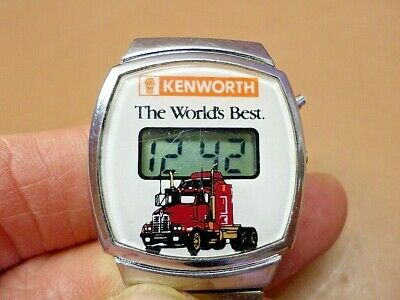 Rare 'KENWORTH - The World's Best' Men's Watch w/Truck Pic New Battery &