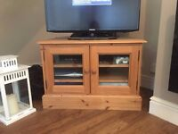 TV Cabinet. Excellent condition and crafting. Only selling SO cheap because moving house. Collection
