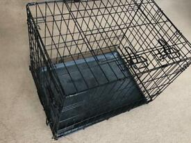 Small pet cage with 2 lockable doors
