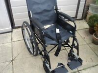 Black Lomax Self Propelled Wheelchair