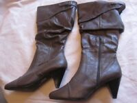 Brand New Mink colour Knee High Boots
