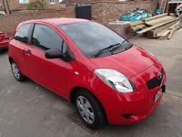 Toyota Yaris 1.0 T2 Petrol Manual 3DR Hatchback RED 2008 FSH 2 Prev Owners
