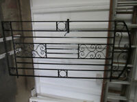 SOLID Wrought Iron gate with hinges & striking plate