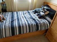 Quality Wooden Single Bed with pull out guest bed underneath.