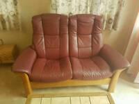 Stressless 2 seater reclining settee