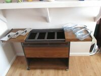 Hostess Trolley in brown