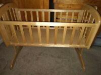 John Lewis Anna Swinging Crib, Natural