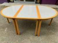 Beech modular meeting table set