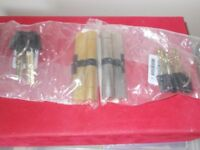 Plastic door lock cylinders with 3 coded keys brand new