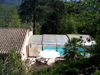 3 bedroom holiday home with covered pool in village in the Cevennes, south of France (8 people)