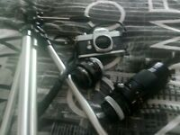 canon flb camera with two sets of lenses