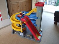 Large Fisher Price Big Action Toy Garage - with lift, ramps, cars and car storage box