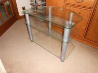 Stainless steel and Glass TV/AV Stand