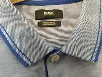 Hugo Boss polo top blue