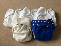 5 Reusable cloth nappies Charlie Banana, Motherease and Bambino Miosolo