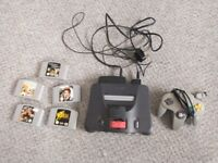 Nintendo 64, expansion pack and 5 games