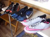 ASTROTURF TRAINERS AND BOOTS. ALL SIZE (7). £15 FOR ALL.