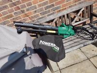 Powerplus Garden Leaf Shredder, Blower, Vacuum. 3000 Watt 3 in 1.