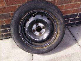 Vauxhall 165/70/r14 wheel and tyre 4 Stud corsa agila 165 70 r14
