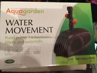 Aquagarden pond pump - never in water, never used
