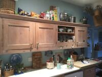 Hand crafted kitchen pine units
