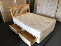 Staples 4ft 6' storage divan set