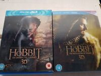 The Hobbit 3-d Blu ray parts 1 and 2