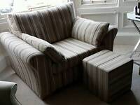 Snuggle seat/ cuddle chair with foot stool from Next (Garda)
