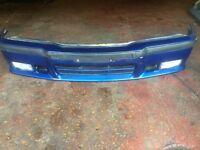 BMW E36 M-TECH M SPORT FRONT BUMPER + FOGLIGHTS + TRIMS + GRILLE, AVUS BLUE