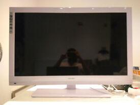 """White 40"""" Bush 1080p LED TV"""