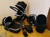 Icandy peach 2 black magic(full travel system)pram/pushchair