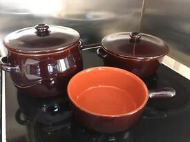 3 piece casserole dish set