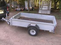 GALVANISED 7 X 4 GOODS TRAILER WITH DROPTAIL.....750KG UNBRAKED..........