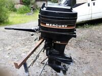 MERCURY 50HP OUTBOARD SHORT SHAFT WITH TILLER FOR ZAP CAT