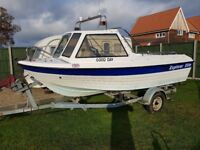For Sale - Explorer Elite Fishing boat with trailer and outboard