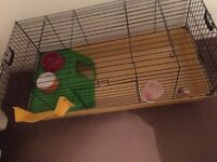 Rabbit hutch for sale with water bottle and bowl