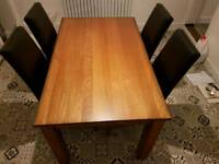 Table with 6 chairs /2 wood unit ,collection only from me4 chatham