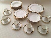 Royal Doulton Forsyth Crockery - Dinner & Side Plates, Soup & Cereal Bowls, Espresso Cups & Saucers