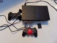 PS2 (SCPH-50003) + 34 Games, Controllers, Memory, All Leads