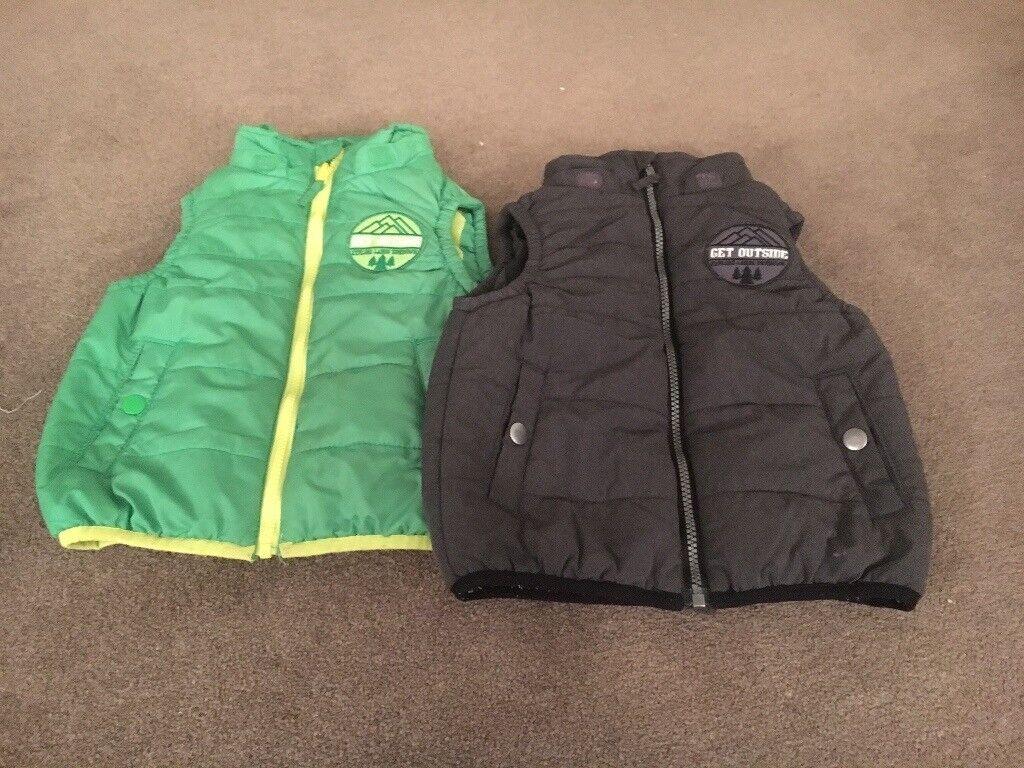 H & M boys body warmer age 2-3 in Green or Grey