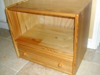 Very solid pine low unit. TV, Home entertainment or bedside use.