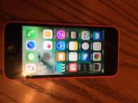 Pink iPhone 5C Boxed with charger, headphones & 2 Cases