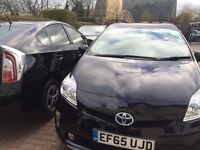 ***PCO READY BLACK TOYOTA PRIUS **65 REG'**FROM £100PW PLUS INSURANCE NO HASSLE CALL NOW