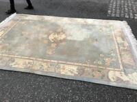 Cracking large ornate wool rug cracking order