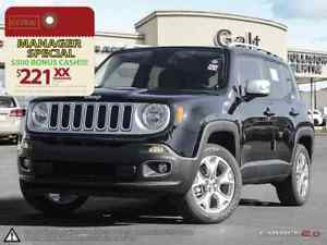 2016 Jeep Renegade LIMITED 4X4 X-DEMO   NAV 6.5TOUCH LEATHER