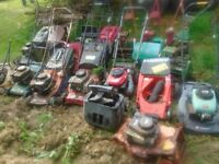 Job Lot Lawnmowers and strimmers Mc Cullogh Makita Ryobi Mountfield Harry Honda Hayter Husquvarna