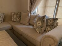 Fab corner sofa and foot stool ottoman