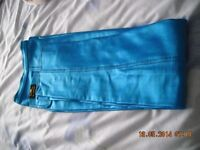 Ladies electric blue vintage stretch trousers